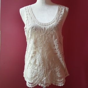 Roommates Mesh Embroidered Top